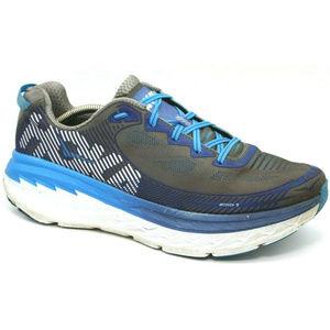 Hoka One One Bondi 5 Running Athletic Sneaker Gray